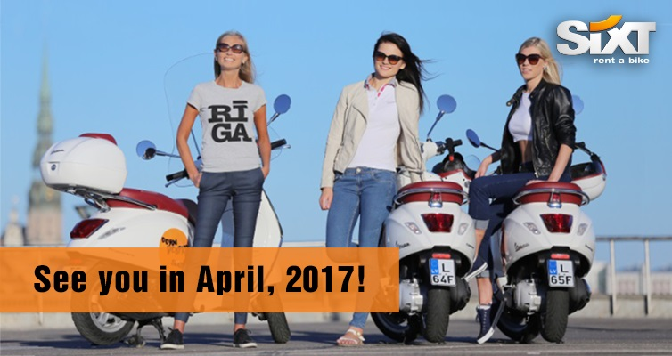 Vespa scooter rental in Riga and Jurmala from Sixt